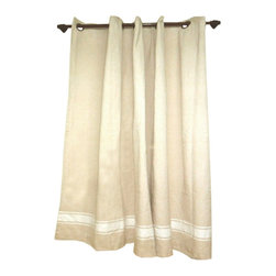 BrandWave - Shower Curtain, Cream - Suds-up with our 100% Cotton Shower Curtain. The neutral cream color fits in with any bathroom. Pair it with the colorful bath and hand foutas, to brighten up the space.