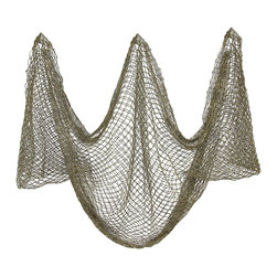Zeckos - 10 Foot x 5 Foot Decorative Fish Net Nautical Fishing - This 10 foot by 5 foot decorative fishing net is a great addition to any room with a nautical theme. It really adds an accent to lobster traps, buoys, anchors, ship's wheels and is perfect for use with tiki bars. The netting is dyed to give it an aged look. The mesh is 3/4 inch square. We have a limited number of these, so don't miss out