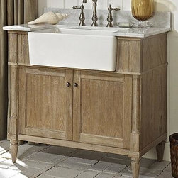Fairmont Designs 142-FV36 Rustic Chic 36 Inch Farmhouse Vanity In Weathered Oak -