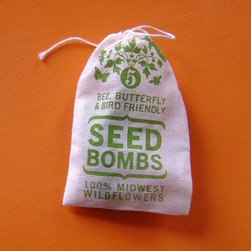 "Midwest Seed Bombs by visualingual on Etsy - The graphic design on the packaging makes it something you'll never want to throw out, and the ""bombs"" make it easy to turn your thumb green. These Seed Bombs include seeds for over 20 different wildflowers. Just be sure to keep them warm and dry until after the last frost, then plant."