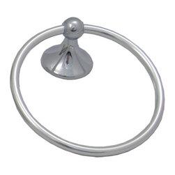 Coastal Towel Ring - Coastal towel ring in bright chrome.
