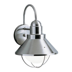 Kichler - Kichler Seaside Outdoor Wall Mount Light Fixture in Brushed Nickel - Shown in picture: Outdoor Wall 1-Light in Brushed Nickel