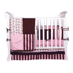 Trend Lab Bubble Gum 4-Piece Crib Bedding Set