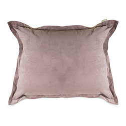Majestic Home - Indoor Steel Faux Suede Floor Pillow - Chairs are for squares! So don't let a standing-room crowd get you down. Toss this giant pillow on the floor — the faux suede feels great to the touch while the secret to the body-forming comfort is the beanbag filling.