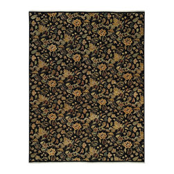Capel - Transitional Boca Park-Wildflowers 6'x9' Rectangle Onyx Area Rug - The Boca Park-Wildflowers area rug Collection offers an affordable assortment of Transitional stylings. Boca Park-Wildflowers features a blend of natural Red Henna color. Hand Knotted of 100% Wool the Boca Park-Wildflowers Collection is an intriguing compliment to any decor.
