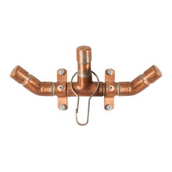 Nine & Twenty - Industrial Copper W Hook - Small but versatile. Now your hat, coat, and fabulously cute canvas bag can all hang on one stunning fixture. Perfect for an international playboy's silk scarf, an on-the-go trend-setter's retro pocket book, or a tired plumber's old, worn out hat.