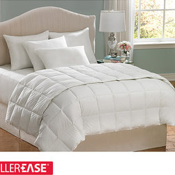 AllerEase - AllerEase Hot Water Washable Twin-size Hypoallergenic Comforter - Enjoy a comfortable rest with this white hypoallergenic comforter. This comforter features an end-to-end box construction and plain weave outer design. Constructed from durable microfiber material, this comforter is also machine washable.