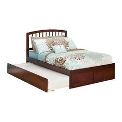 Atlantic Furniture - Atlantic Furniture Richmond Bed with Urban Trundle in Antique Walnut-Full Size - Atlantic Furniture - Beds - AR8832014
