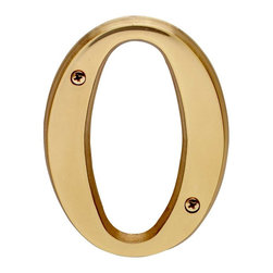 "Renovators Supply - House Numbers Bright Solid Brass 4"" House Letter O - Made of solid brass, these polished die cast letters are made to withstand the elements. Measuring 4 in. high, they are easily seen from the curb. They will update your home's exterior!"