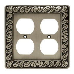 Liberty Hardware - Liberty Hardware 64196 Paisley WP Collection 4.96 Inch Switch Plate - The Paisley design adds a glamorous feel to every room with its tear drop design. The pewter finish brings distinguished style and old world feel to any room. Fasteners are included and sized to fit standard electrical boxes. This family is available in the 10 most popular wall plate configurations. Width - 4.96 Inch, Height - 4.9 Inch, Projection - 0.3 Inch, Finish - Brushed Satin Pewter, Weight - 0.45 Lbs.