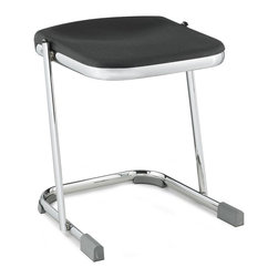 National Public Seating - Elephant 18 in. Z-Stool - Set of 3 - Set of 3. Equipped with ergonomic blow molded seat providing maximum air comfort. U-shaped sled base legs with specially designed glides. 12-gauge chrome-plated attractive eye tubular steel frame. Oversized contact area to minimize pressure on floor. Glides embedded thermoplastic polyurethane and provide quiet and smooth gliding on all floor. Made from steel. Assembly Instruction. 18 in. H (9.5 lbs.)NPS announces an exciting new line of Elephant Z-Stools, providing a niche solution for the most demanding lab and art environments. the Elephant Z-Stool is aesthetically pleasing in appearance, yet uncompromisingly mammoth in quality and construction.