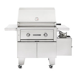 Lynx - Sedona BBQ 30 in. ADA Gas Grill Multicolor - L500ADA-LP - Shop for Grills from Hayneedle.com! A compact free-standing grill for your porch deck or patio the Sedona BBQ 30 in. ADA Gas Grill provides a perfect single-family cooking area. The grill is constructed from solid 304 stainless steel and is available as either a natural gas or liquid propane model (subject to availability). The grill incorporates two burners: a stainless steel burner and a ProSear infrared burner layered with ceramic briquette for even heat distribution. The double-door base features a storage shelf. The hood comes equipped with halogen interior lights for easy nighttime visibility and features a built-in thermometer to monitor the cooking temperature without opening the lid. Four swivel casters provide mobility. The main cooking surface is 733 square inches with a 225 square-inch warming rack. Folding side-shelves provide a handy area to keep tools and food. About Lynx Professional GrillsWhen it began in 1996 Lynx Professional Grills was committed to offering grills that elevated the outdoor cooking experience to new levels. Since then the company has expanded its offerings to a full range of outdoor living products including side burners cocktail stations refrigerators and more. Since its founding Lynx has set an industry standard for innovation engineering and design. Consumers prize the easy-to-clean specially welded stainless steel which endures under the harshest of outdoor conditions and delivers restaurant-quality design right to your home patio.