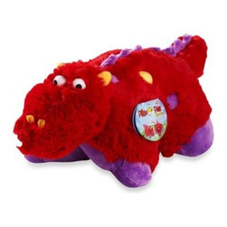 "Pillow Pets - Pillow Pets Pee-Wee in Dragon - This delightful plush pet doubles as a cozy pillow, combining the functionality of a pillow with the serenity of a stuffed animal. Just un-Velcro its belly and the pet becomes an 11"" pillow."