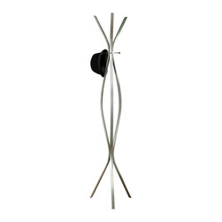 """Monarch Specialties - Monarch Specialties Contemporary Coat Rack in Silver - Complete the functionality of your home with this contemporary coat rack. Beautiful 72"""" high silver metal legs provide sturdy support and brings plenty of stylish storage into your living space. This coat rack makes it simple to organize your entryway, hallway or living room. A modern and chic look complete its stylish appeal. What's included: Coat Rack (1)."""