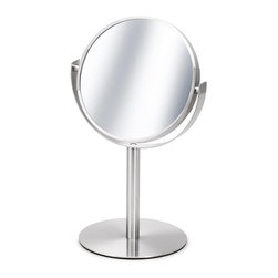 Blomus - Primo Cosmetic Mirror - If you're going to get all up close and personal with a magnifying mirror, best to do so with one that has fantastic design. This minimalist mirror does it's job and does it well, and looks quite sleek and sexy while it's doing so.