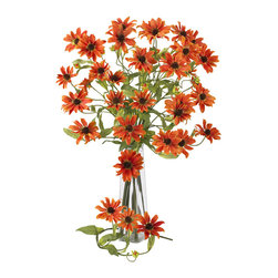 """Nearly Natural - 28.5"""" Cosmo Stem (Set of 12) - What an interesting flower we have here: the cosmos stem is appealing to the eye for several reasons. First, it has interesting stems that curve and branch in a spider-like manner. Then, these stems are adorned with leafy greens, and full blooms that burst with color. Available in several hues, this Cosmos stem makes the perfect gift for that special someone who appreciates unique beauty."""