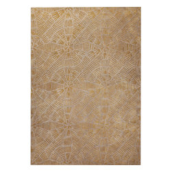 """MAT Orange Labyrinth Grey Brown Rug - 5'2""""x7'6"""" - The rugs in this collection are all inspired by urban lanandscapes, making way for a statement where texture, shape, and line are the form. The rug's texture and the marriage of colors speak to the contemporary room. """"It is the art piece on the floor.  Because of the artistic quality ofThe rugs they are easily used in modern as well as traditional interiors. Pile Height:0.  Inches"""