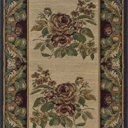 Natco - Contemporary Indoor/Outdoor Natco Rugs Stratford Bouquet Beige 2 ft. 9 in. x - Shop for Flooring at The Home Depot. This Natco Stratford Bouquet Beige 2 ft. 9 in. x Your Choice Length Roll Runner adds a unique touch of style to floors and home furnishings with its stylish design and warm color scheme. The roll runner is woven from 100% heat-set polypropylene with double pointing providing enhanced density and a heavy pile for durability and long-lasting enjoyment. Color: Beige.