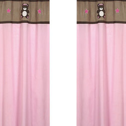 "Sweet Jojo Designs - Teddy Bear Pink Window Panels (2 Piece) - Create a stylish look for your child's room with these Sweet Jojo Designs Teddy Bear Pink Window Panels. Pair with the coordinating Sweet Jojo Designs crib bedding set to help complete the look and feel of the bedroom theme for your child. This set features 2 Window Panels that are 42"" x 84"" each."