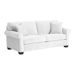 Apt2B - Lafayette Apartment Size Sofa, White, 62x38x32 - A cozy, puffed sofa is just what you need to make your apartment feel homey, and this one is sized just right for your smaller space. Simply styled and available in several soft neutral shades (plus a fab retro blue-green), it's sure to fit right in to your room, your decor and your life.