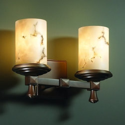 Justice Design Group - Justice Design Group FAL-8532 Deco 2 Light Bathroom Bar Fixture LumenAr - Justice Design Group FAL-8532 Deco 2 Light Bathroom Bar Fixture from the LumenAria CollectionThe LumenAria� Collection offers the look of genuine carved alabaster without the cost. These faux alabaster fixtures combine many of your favorite Justice Design Group, LLC shapes with the warmth and beauty of an alabaster glow.From an elegant lamp atop a contemporary end table to a dramatic sconce illuminating a formal entryway, Justice Design offers a wide array of lighting solutions for residential and commercial settings. Create a mood, complement a theme, or simply add the perfect accent with a Justice Design decorative lighting fixture.