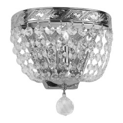 The Gallery - Empire Crystalall Sconce Lighting - Please note - this is a wall sconce light, it is made to hang on the wall, not the ceiling