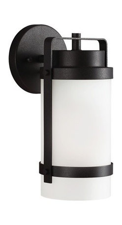 Sea Gull Lighting - Sea Gull Lighting 8522401-12 Bucktown 1-Light Outdoor Wall Lantern in Black - The Sea Gull Lighting Bucktown 1-Light outdoor wall fixture in black enhances, the beauty of your property, makes your home safer, and more secure, and increases the number of pleasurable hours you spend outdoors.