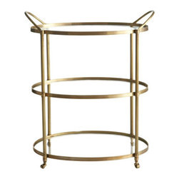 Arteriors - Arteriors Emory Bar Cart - Bar carts and gold are both so popular now - what a great way to mix the two trends.