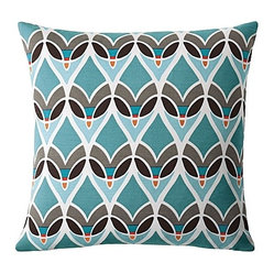 Montauk Outdoor Pillow, Turquoise