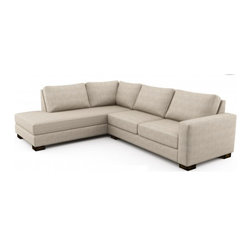 Rio Wedge Sectional (Eco-Friendly) - Modern style eco-friendly sectional sofa that is made with 100% alder wood, all natural latex and eco wool, and comes in a large variety of natural or recycled fabrics. It's made in Los Angeles, and is natural from the inside out with no use of chemicals or fire retardants. It can also be made to the inch, and customized to the exact layout you need.