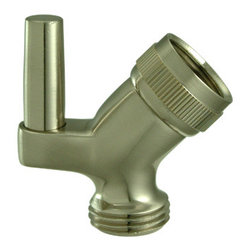 Kingston Brass - Supply Elbow - With its solid brass construction, the pin wall bracket accommodates as an attachment to the shower head. An arm mount is added to hold the shower head making your bathroom clean and organized. The array of finishes that we offer provide durability and long-lasting satisfaction.