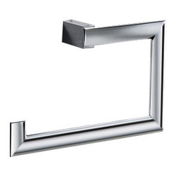 Gedy - Square Chromed Brass Towel Ring - Unique, style square towel ring made of brass with a polished chrome finishing.