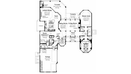 Eplans Mediterranean House Plan - Mediterranean Villa - 4391 Square Feet and 6 B