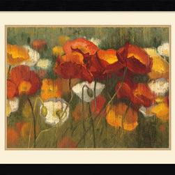 Amanti Art - The Power of Red II Framed Print by Shirley Novak - Saturate your decor with color! This field of flowers by Shirley Novak celebrates the timeless joy of poppies.