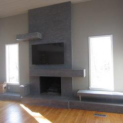 Fireplace surrounds - Concrete Encounter, LLC