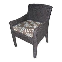Padma's Plantation Outdoor Bay Harbor Arm Dining Chair -