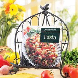 Global Amici - Bird Cookbook Holder - Keep cookbooks open and easy to read with this stylish holder! Made of wrought iron, it ensures that ingredients won't spill and stain favorite family recipes.   13.8'' W x 12'' H x 8'' D Wrought iron Imported