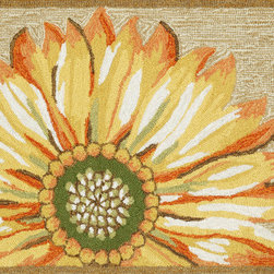 "Trans-Ocean - 24""x36"" Frontporch Sunflower Yellow Mat - Richly blended colors add vitality and sophistication to playful novelty designs.Lightweight loosely tufted Indoor Outdoor rugs made of synthetic materials in China and UV stabilized to resist fading.These whimsical rugs are sure to liven up any indoor or outdoor space, and their easy care and durability make them ideal for kitchens, bathrooms, and porches. Made in China."