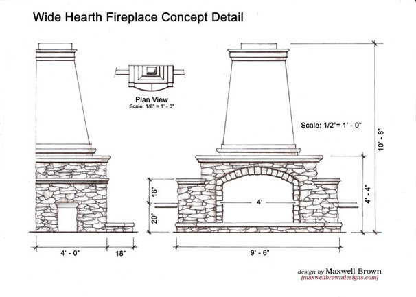 Traditional Exterior Elevation by Maxwell Brown