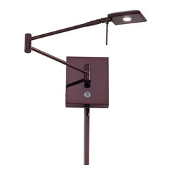 George Kovacs - George Kovacs P4328-631 LED Chocolate Chrome Swing Arm Modern Wall Sconce - - Chocolate Chrome Finish