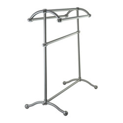 Kingston Brass - Pedestal Towel Rack - Kingston Brass' bathroom accessories are built for long-lasting durability and reliability. They are designed so you can easily coordinate matching pieces. Each piece is part of a collection that includes everything you need to complete your bathroom decor.