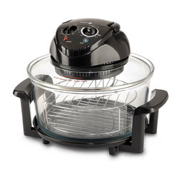 Fagor America - Fagor Black 12-quart Halogen Tabletop Oven - This fantastic tabletop convection oven is a very functional appliance for your kitchen. This oven is perfect for low-fat cooking due to the fact that it seals in moisture and flavor. The oven also features a non-stick inner frying pan.