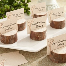 Rustic Place Card Holders by accenttheparty.com