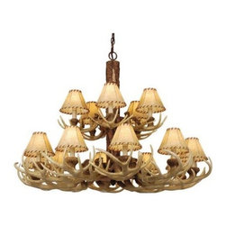 Vaxcel Lighting - Vaxcel Lighting CH33015 Lodge 15 Light Two Tier Chandelier - Features: