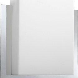 LightingFarm.com - Oxygen Lighting Pathways 2-5118-214-EM Wall Sconce Emergency Matte White Acrylic Polished Chrome
