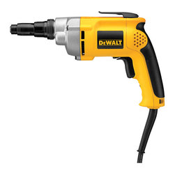 Dewalt - 6.5 Amp Screwdriver Variable Speed Reversible - High power motor for metal fastening applications. Helical-cut steel, heat-treated gears for smooth operation and longer life. Rubber-grip and two-finger trigger for increased comfort. Versa-clutch torque adjustment system to dial the proper torque needed   to efficiently drive fasteners without stripping or breaking fastener. High power motor for increased durability and longer life. Metal nose and gear case for durability on the job. Designed for steel stud framing, general framing decking/phillips screws   and self-drilling hex head screws. SPECIFICATIONS: 6.5 amp motor, 0-2,500 RPM, 132 in. lbs. torque, #14 max. fastener. 3.2 lbs. tool weight.      This item cannot be shipped to APO/FPO addresses.  Please accept our apologies