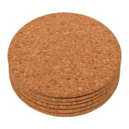 The Felt Store - Cork Coasters (110mm Dia X 7mm Thick, 6Pcs Set) - Adorn your table with The Felt Store's naturally beautiful material! This Cork Coaster Set includes 6 round coasters made entirely of fine grained cork. Each round coaster approximately measures 4 inches in diameter and 0.28 inches thick, and fits any average sized glass or beverage can. These cork coasters are naturally resistant to liquids, and are easy to wipe clean. Make your coffee table, desk or dinner table unique with these coasters. This product can be wiped clean with a damp cloth.