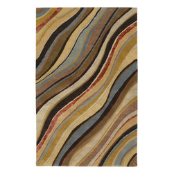 Artist Studio ART229 Rug - 8'x11' - Quality construction and luscious pile define the Artist collection. This Hand Tufted Rug made out of pure 100% New Zealand Wool will be a stylish addition to any floor. Add a touch of elegance to your d�cor and impress guests for years to come.