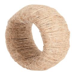 Saro - Jute Napkin Ring set, Natural SET/12 - Jute Napkin Ring set, Natural SET/12