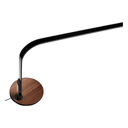 Pablo Designs - Lim 360 Table Task Lamp in Black and Walnut - Features: